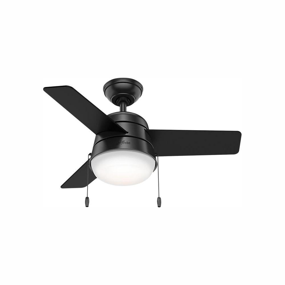 medium resolution of led indoor matte black ceiling fan with light