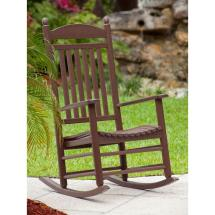 Polywood Jefferson Mahogany Patio Rocker-j147ma - Home