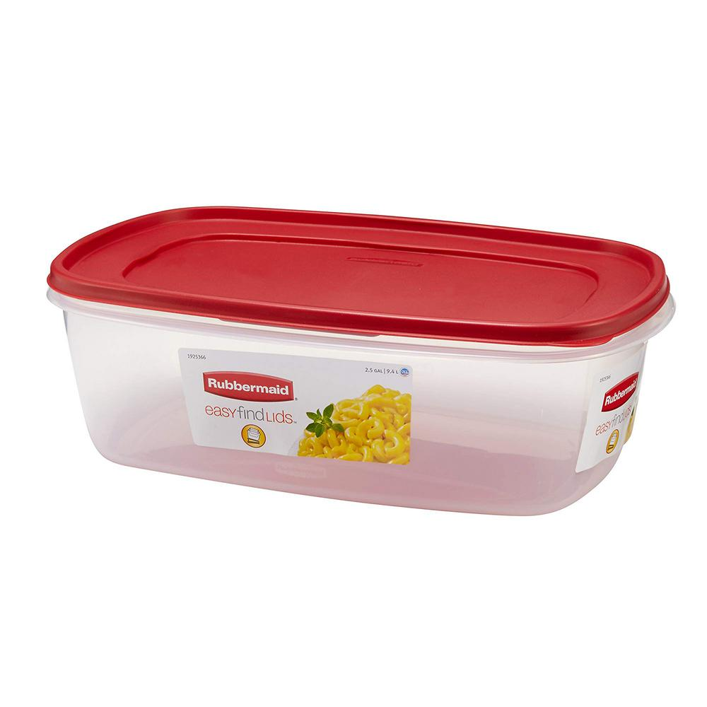 rubbermaid kitchen storage containers unpainted cabinets 2 5 gal easy find lids rectangular bowl 1777164 the
