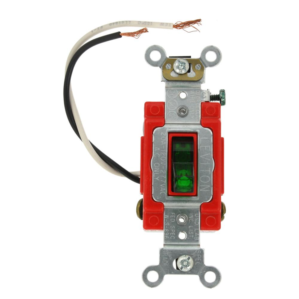 hight resolution of leviton 20 amp industrial grade heavy duty 3 way pilot light toggle diagram to wire 3 way switch further leviton 3 way switch with pilot