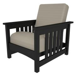 Black Patio Chairs Indoor Rattan Chair Cushions Polywood Mission All Weather Plastic Outdoor With Bird S Eye