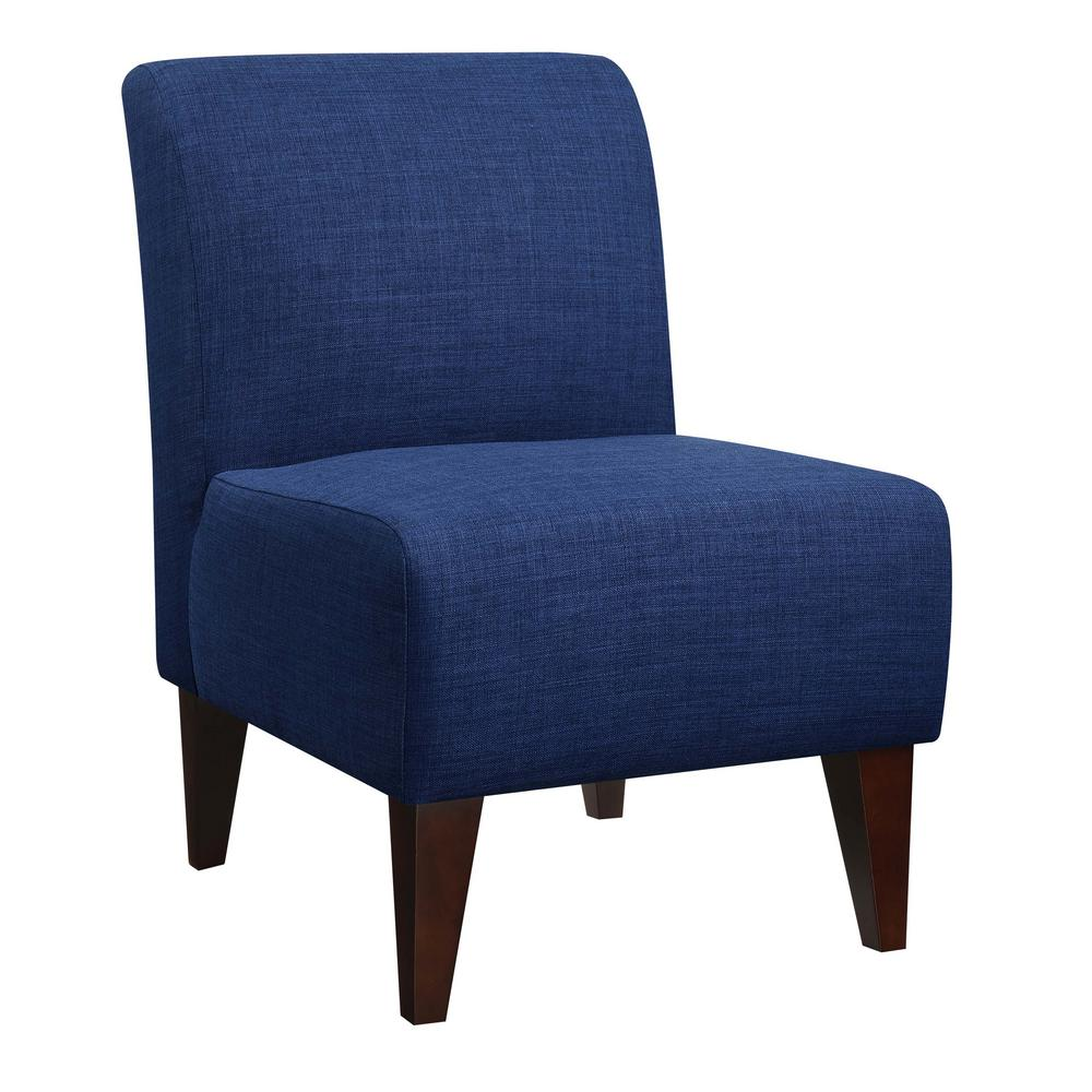 Blue Slipper Chair North Accent Blue Slipper Chair Usc080100ca The Home Depot