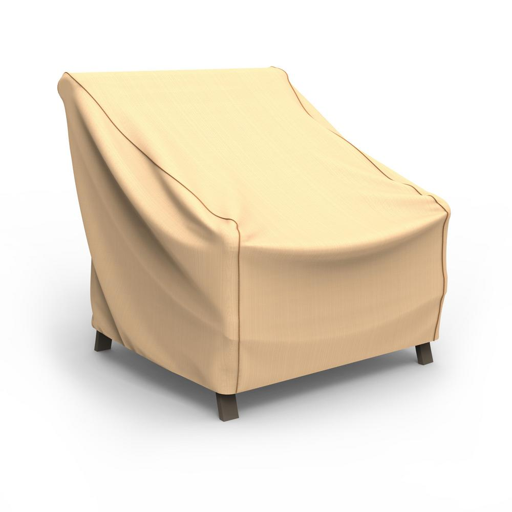 yellow chair covers country table and sets budge rust oleum neverwet x large tan outdoor patio cover