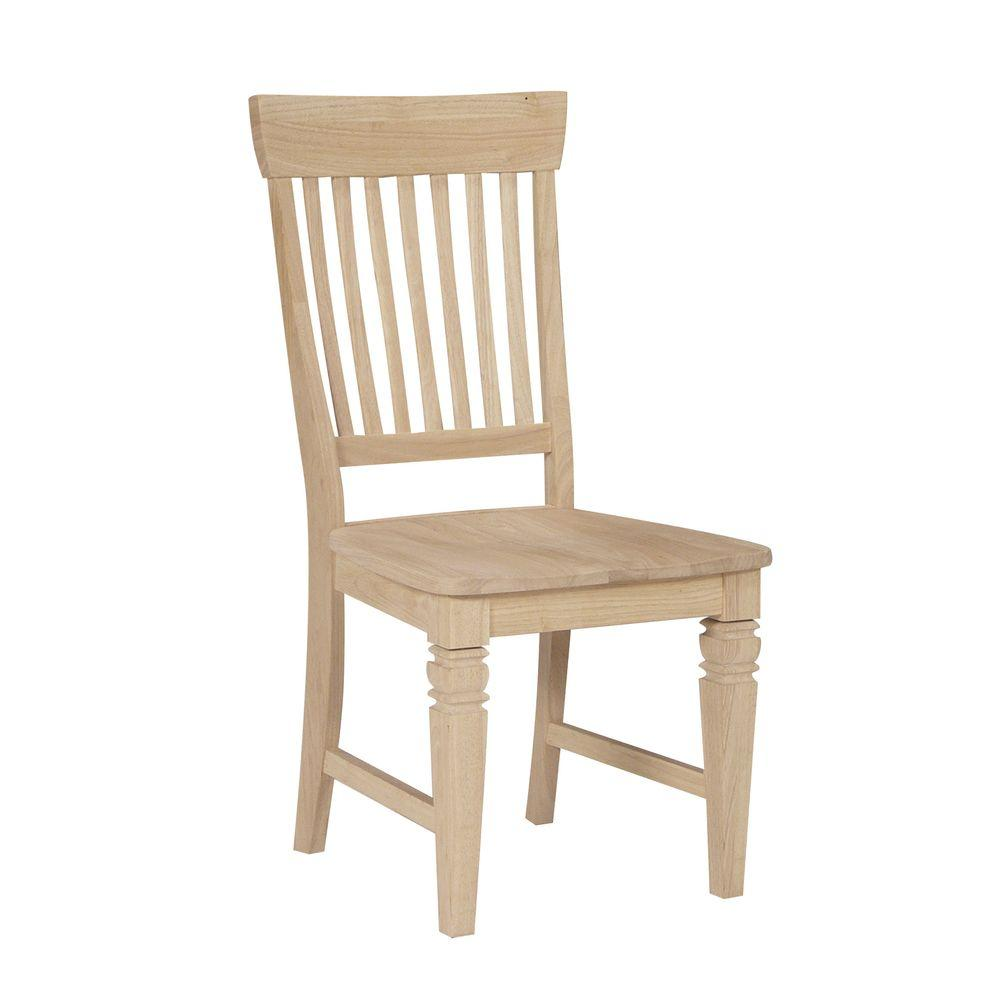 unfinished wooden chairs cheap revolving accent chair international concepts wood mission dining set of 2