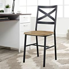 Chair Design Back Angle Summer Winds Patio Chairs Walker Edison Furniture Company Iron X Barnwood Metal And Wood Dining