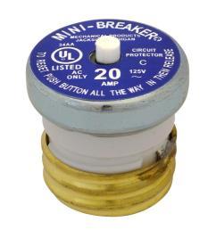 cooper bussmann 20 amp plug type circuit breaker [ 1000 x 1000 Pixel ]