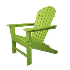 Poly Wood Adirondack Chairs Black Bonded Leather Chair Polywood South Beach Lime Plastic Patio Sba15li The Home Depot