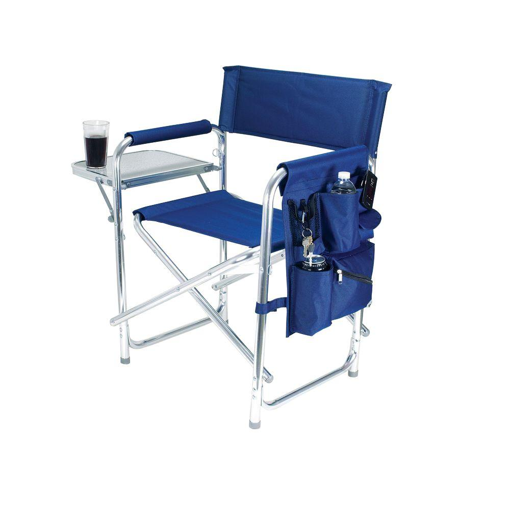 most comfortable folding chair chairs metal picnic time navy sports portable patio 809 00 138 000