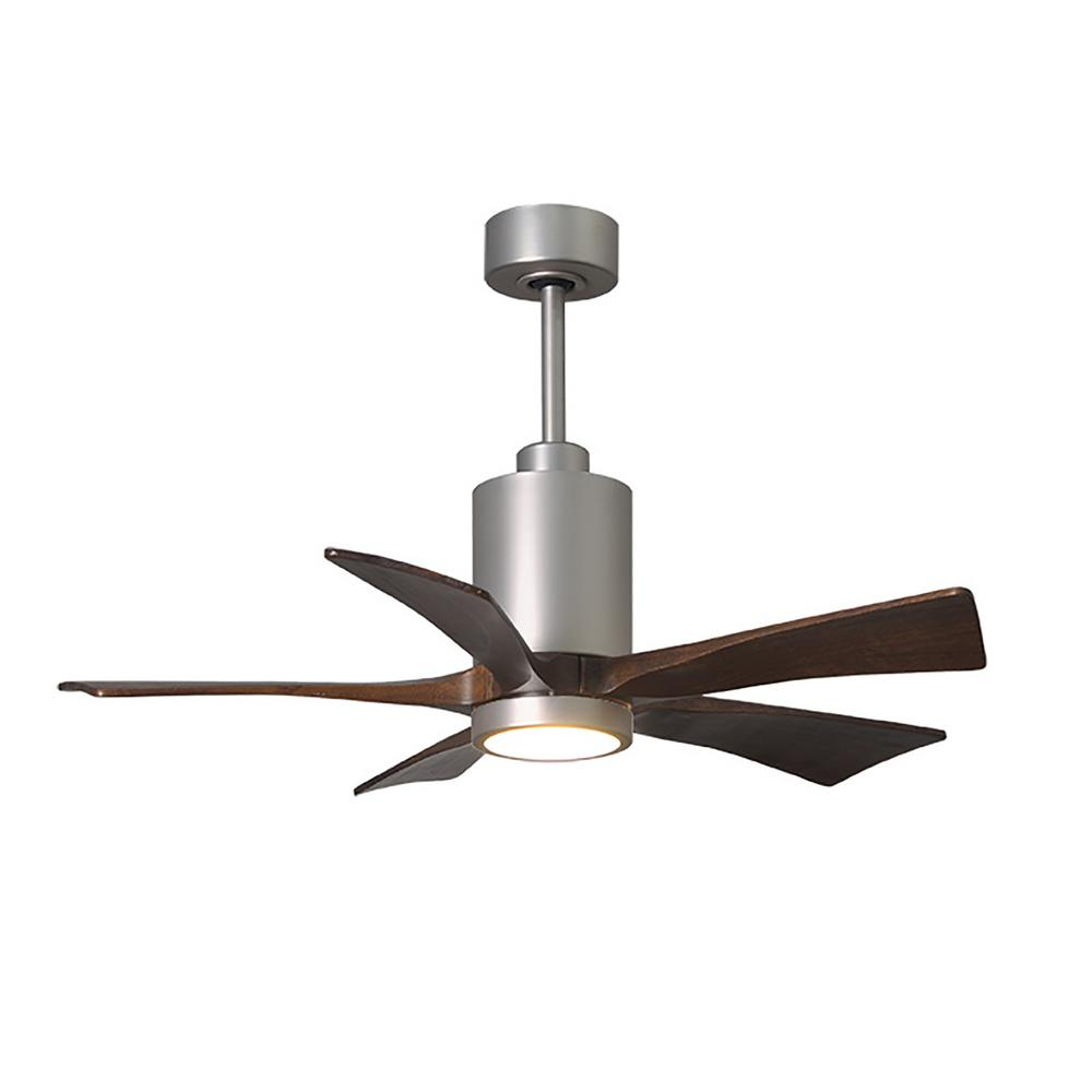 medium resolution of patricia 42 in led indoor outdoor damp brushed nickel ceiling fan with