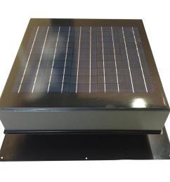 20 watt 1280 cfm gray solar powered attic fan [ 1000 x 1000 Pixel ]