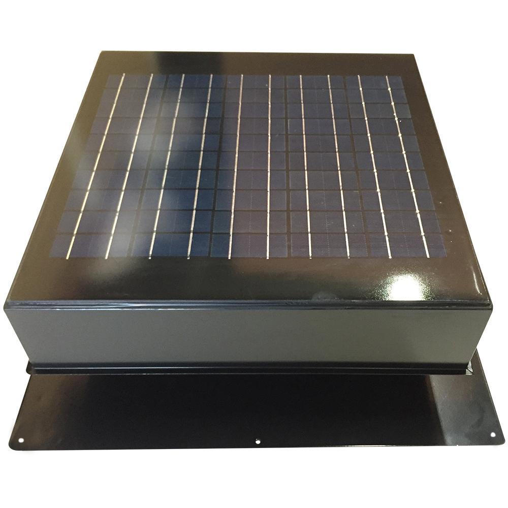 hight resolution of 20 watt 1280 cfm gray solar powered attic fan