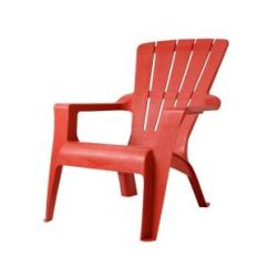 Red Adirondack Chairs Folding Chair Leg Floor Protectors Unbranded Chili Patio 167073 The Home Depot