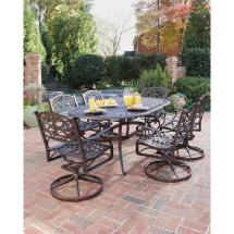 Home Styles Biscayne Bronze 7-piece Swivel Patio Dining