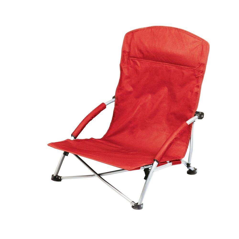Red Patio Chairs Picnic Time Red Tranquility Portable Beach Patio Chair