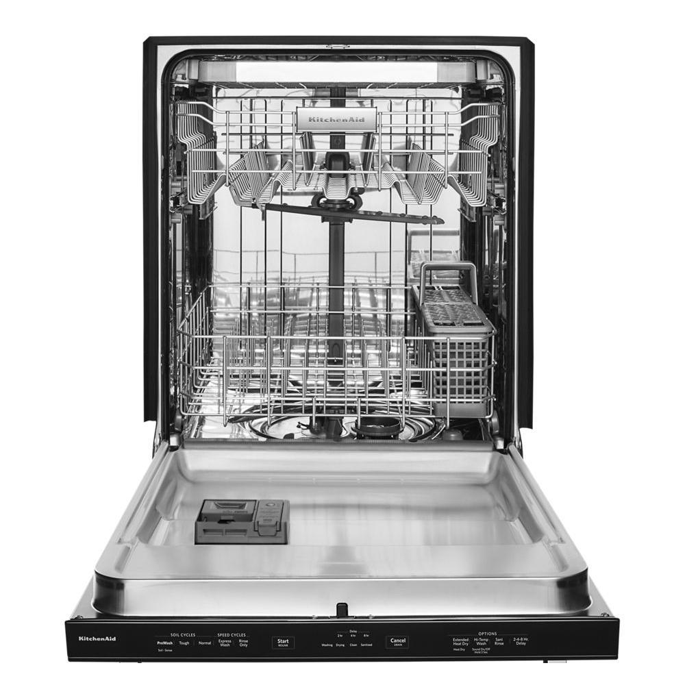 kitchen aide dishwasher ikea set kitchenaid top control built in tall tub black 8