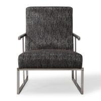 TOV Furniture Liv Metallic Black Linen Chair-TOV-S6106 ...