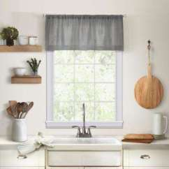 Kitchen Window Valances Coffee Rugs Scarves Treatments The Home Depot Cameron Tier Valance