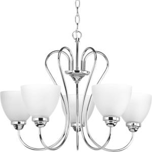 Progress Lighting Merge Collection 9 Light Antique Bronze Chandelier With Opal Glass Shade P4317 20 The Home Depot