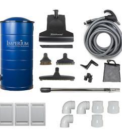 imperium central vacuum with attachment kit [ 1000 x 1000 Pixel ]