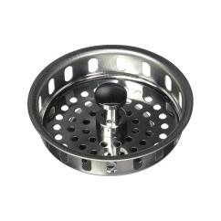 Kitchen Sink Strainers Sliding Drawers For Cabinets The Plumber S Choice 3 1 2 In Strainer Basket Replacement Drains Stainless Steel With Spring Stopper And Rubber Seal