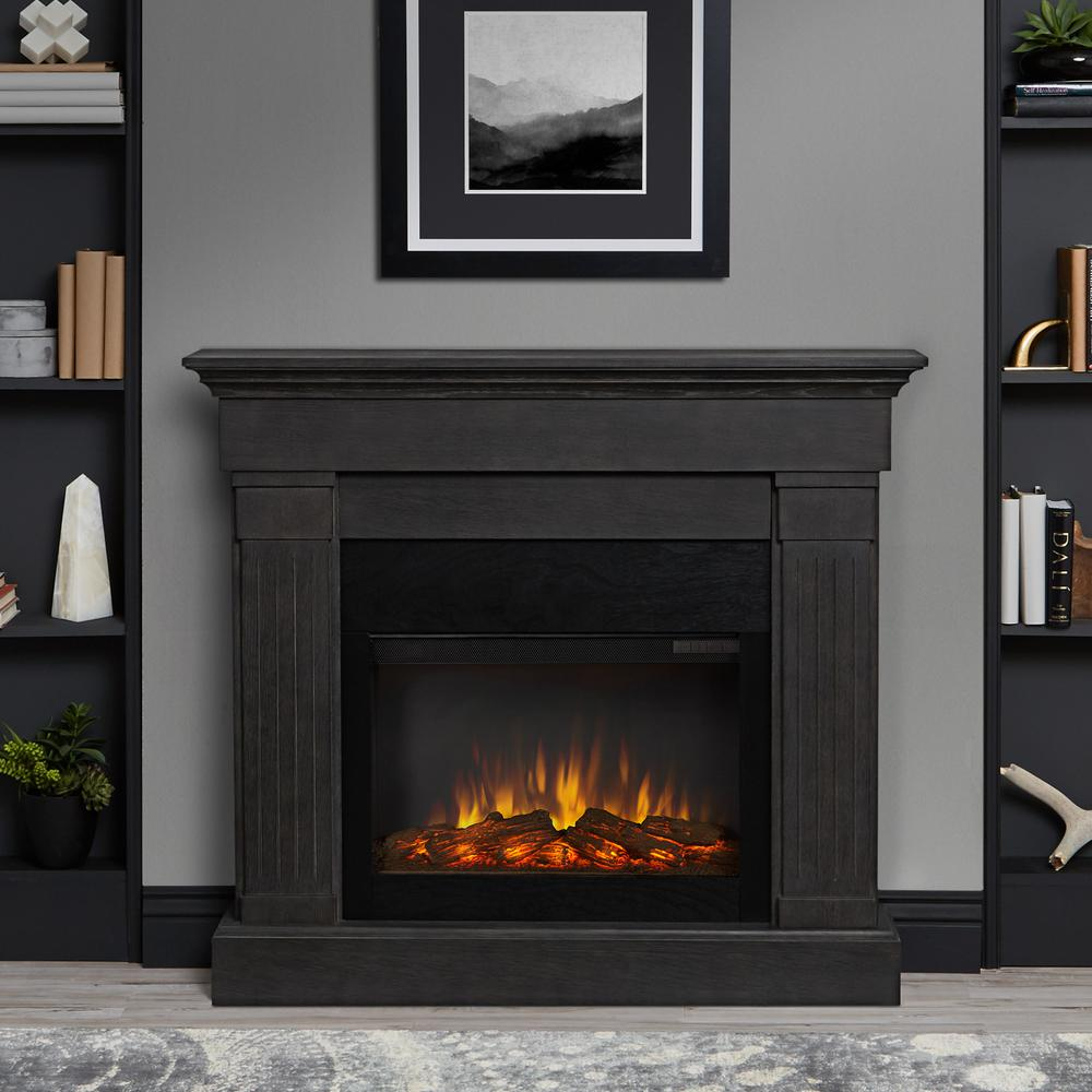 Real Flame Devin 36 in Electric Fireplace in White1220EW  The Home Depot
