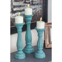 IMAX Coreen Candle Holder (3-Pieces)-10163-3 - The Home Depot