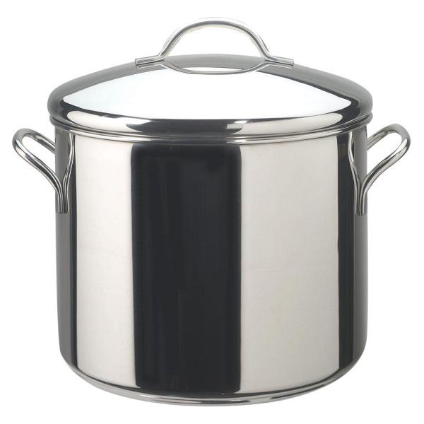 Farberware Classic Series 12 Qt. Stainless Steel Stock Pot With Heat Resistant-50008 - Home