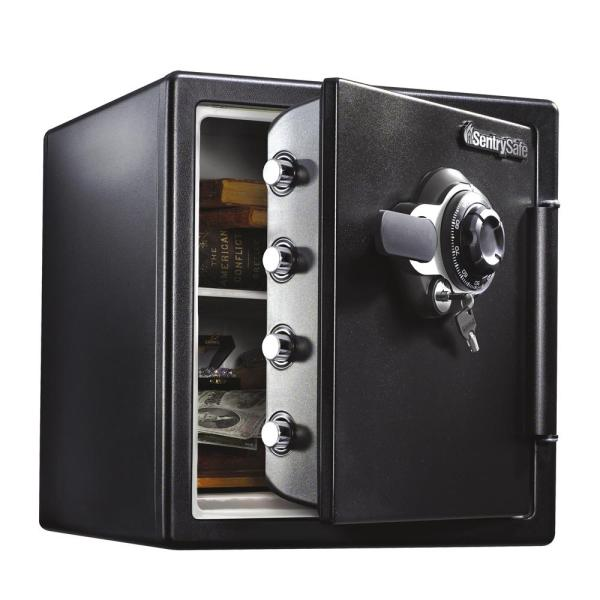 Sentrysafe Sfw123dtb 1.23 Cu. Ft. Fireproof Safe And Waterproof With Dial Combination