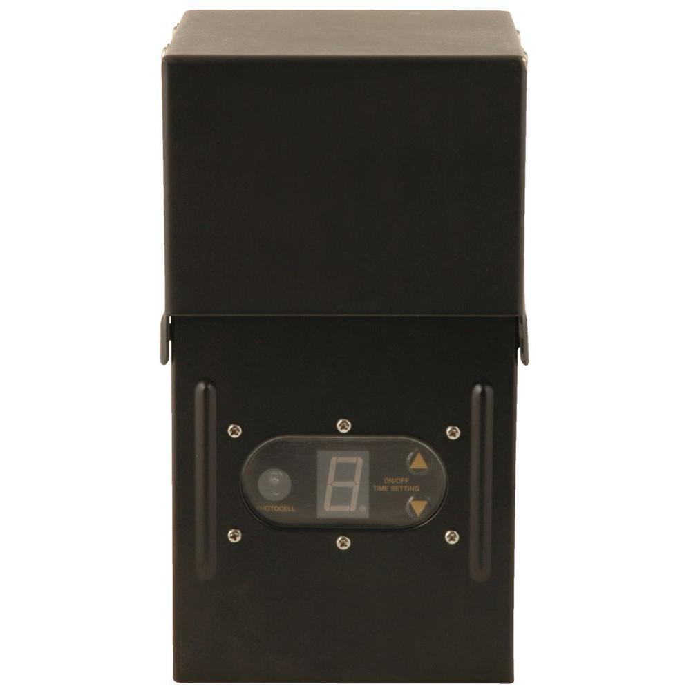 medium resolution of power pack low voltage 300 watt black outdoor lighting weather shield transformer with sensor and metal raintight case