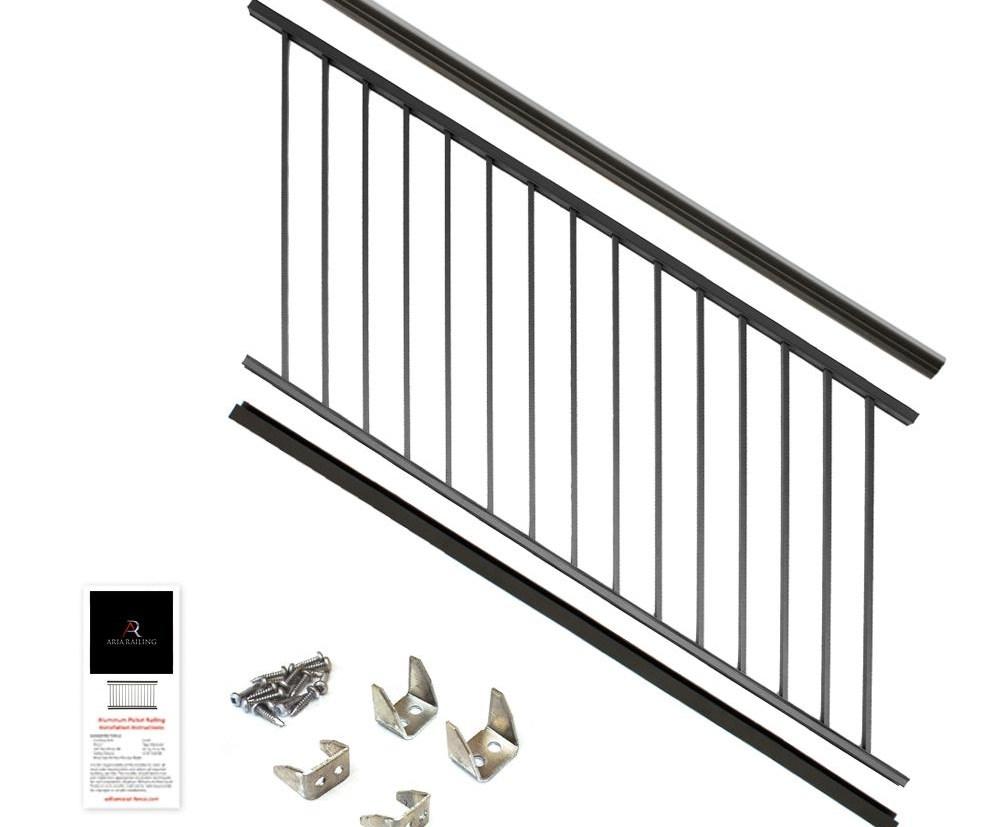 Aria Railing Deck Railings Decking The Home Depot | Home Depot Exterior Handrail | Wood | Wrought Iron | Deck | House | Interior