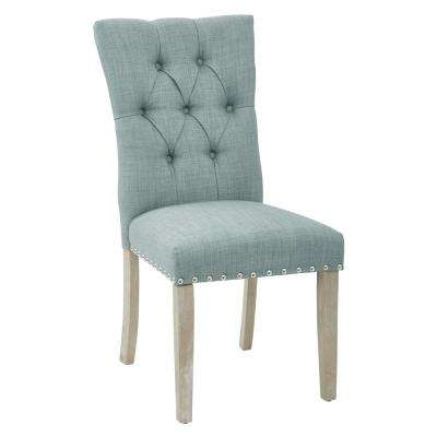 desk chair blue swivel with armrests classic best rated office furniture the preston dining in marlow bluebird fabric silver nailheads and brushed legs