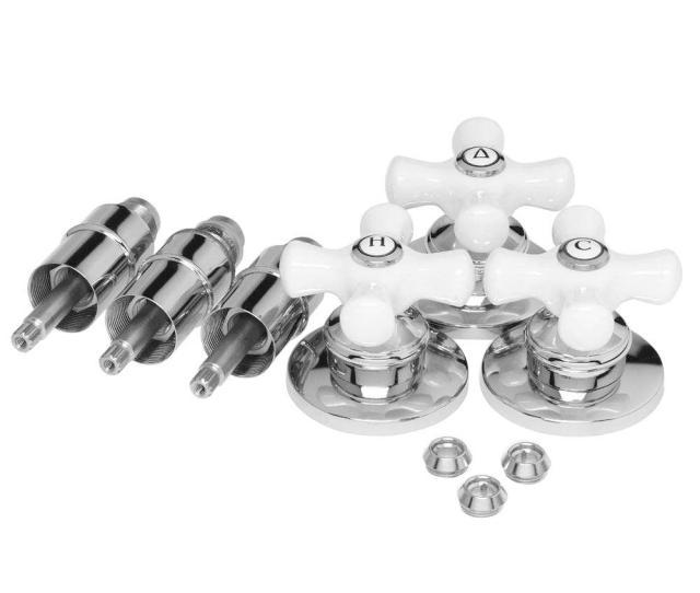 Porcelain Cross Handle Rebuild Kit  Piece