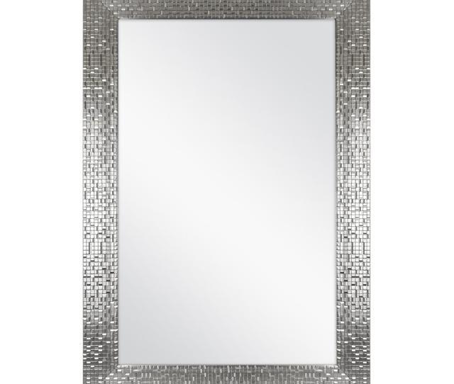 L Framed Fog Free Wall Mirror In Silver