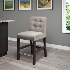 Counter Height Chair Leather Covers The Best Protection Corliving Antonio 25 In Grey Tweed Fabric Bar Stool Dad 424 B Home Depot