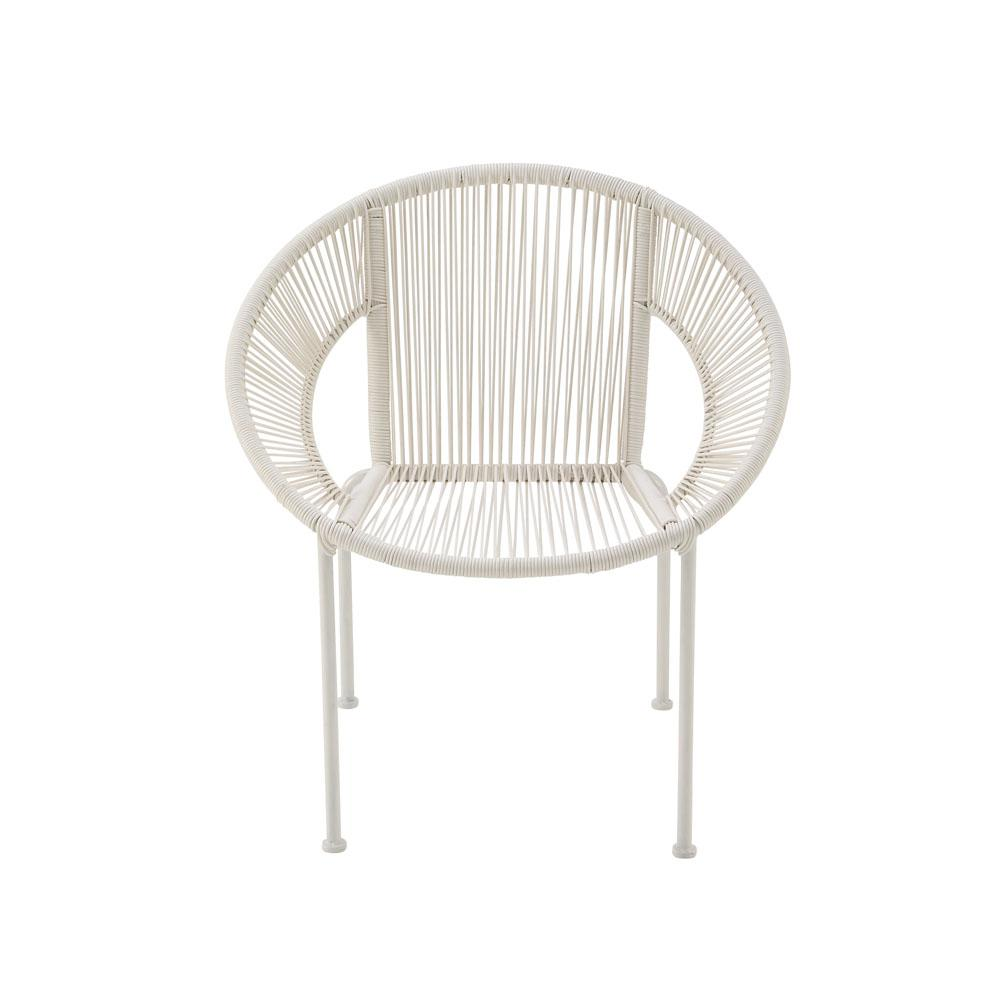 Rattan Accent Chair Litton Lane White Tin And Rattan Round Chair