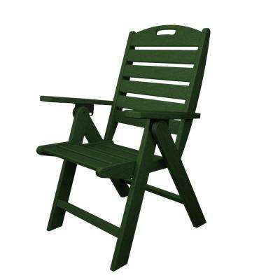 green resin patio chairs modern lounge chair with ottoman folding polywood furniture the nautical highback plastic outdoor dining