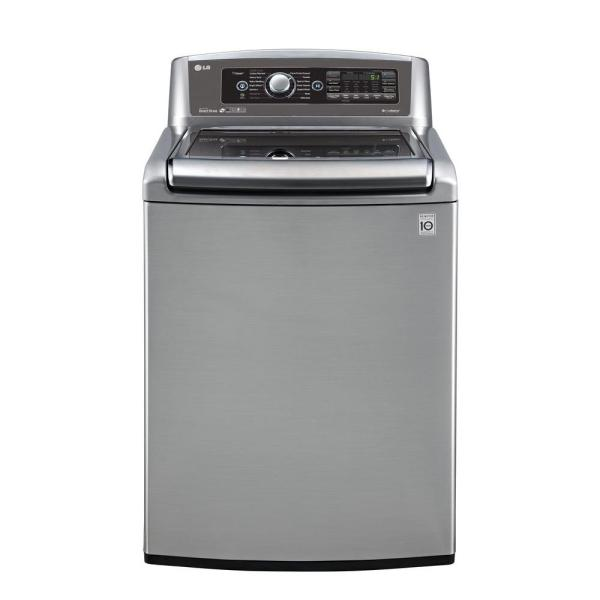 Lg Electronics 5.0 Cu. Ft. High-efficiency Top Load Washer With Steam In Graphite Steel Energy