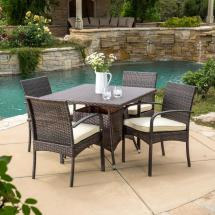 Outdoor Patio Square Dining Table Set