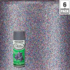 Grey Kitchen Rugs Metal Trash Can Rust-oleum Specialty 10.25 Oz. Purple Glitter Spray Paint ...