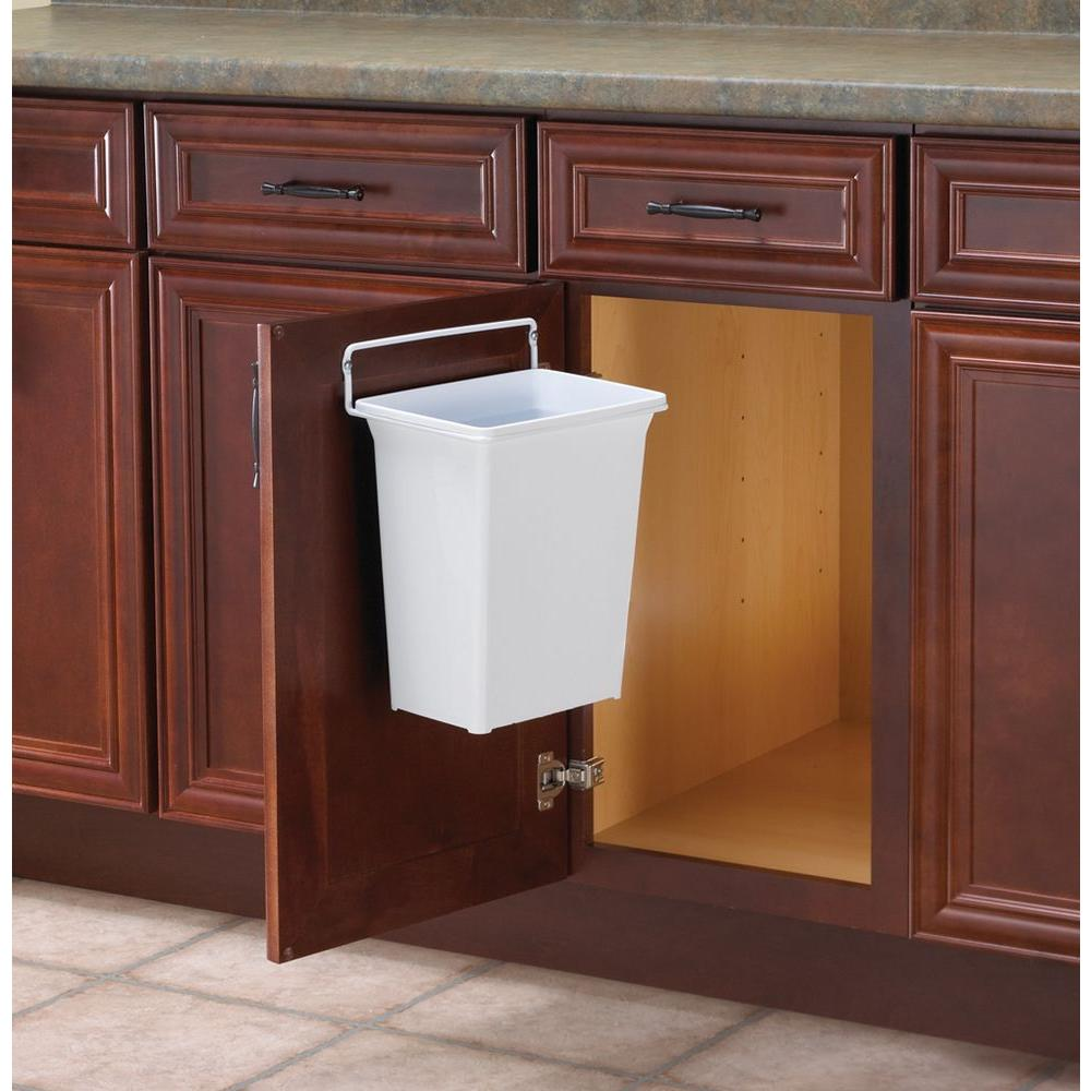 trash cans kitchen cabinet boxes real solutions for life 13 in h x 10 w 7 d plastic