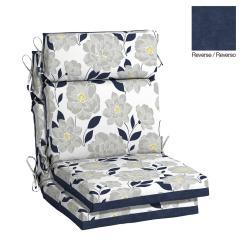High Back Lawn Chair Cushions Golden Recliner Lift Parts Hampton Bay 21 5 X 20 Flower Show Outdoor Dining Cushion 2