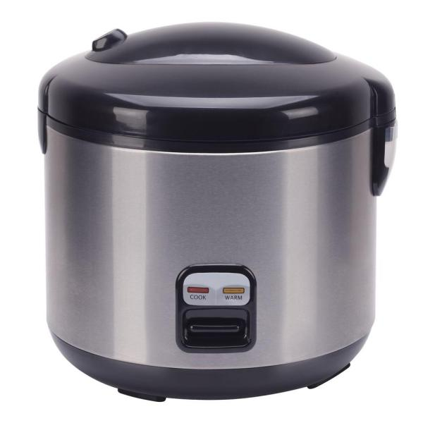 10 Cup Rice Cooker Food Steamer Kitchen With Measuring Spatula Steam Tray 876840005327