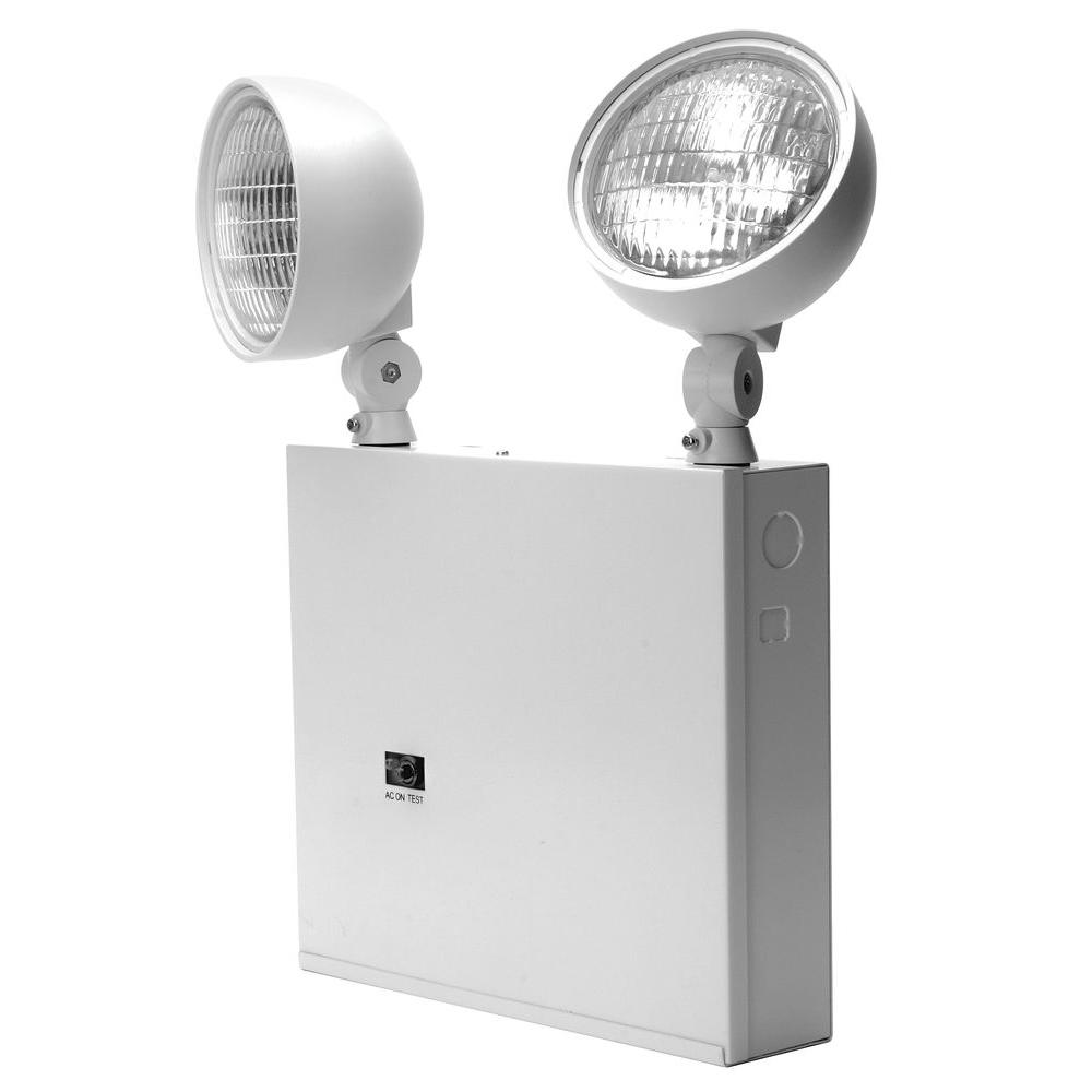 hight resolution of lithonia lighting new york approved 2 head white steel emergency fixture unit