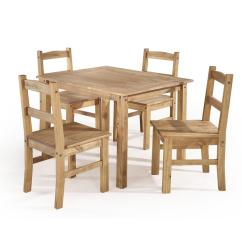 Solid Wood Chairs Leather Wing Back Manhattan Comfort York 5 Piece Nature Dining Set With 1 Table And 4 Cs18006 The Home Depot
