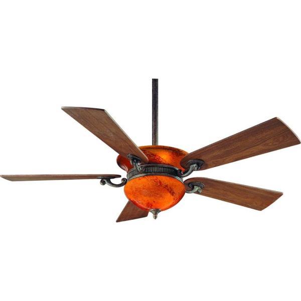 Hampton Bay Rhodes 52 In. Indoor Nutmeg Ceiling Fan With