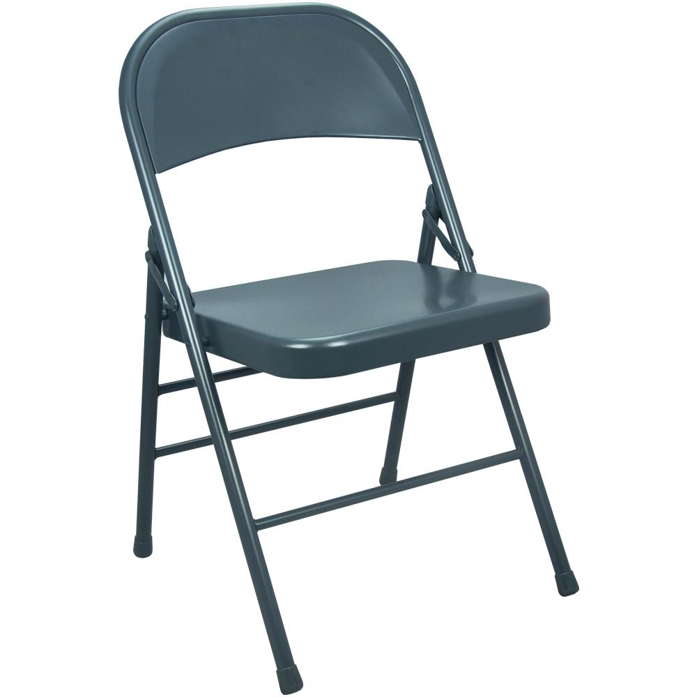 blue metal folding chairs reupholster office chair advantage slate edpi903m navy the home depot