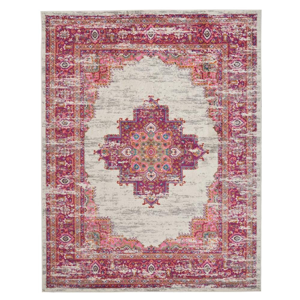 Nourison Passion IvoryFuchsia 8 ft x 10 ft Area Rug388193  The Home Depot