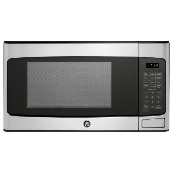 Ge 1.1 Cu. Ft. Countertop Microwave In Stainless Steel-jes1145shss - Home Depot