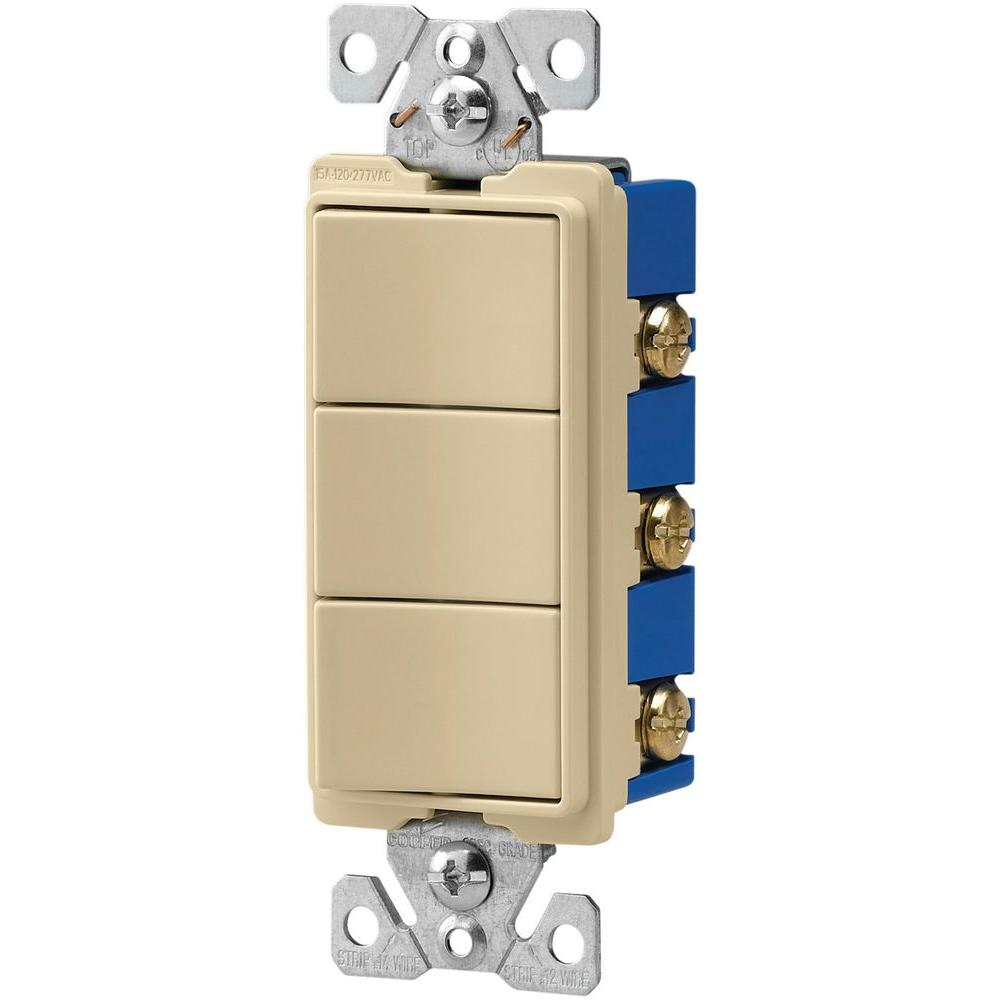 medium resolution of eaton 15 amp 120 volt 3 way decorator 3 single pole combination switches
