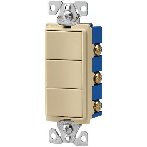 small resolution of eaton 15 amp 120 volt 3 way decorator 3 single pole combination switches